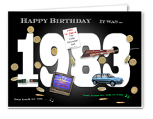 35th Birthday Card Souvenir Of 1983